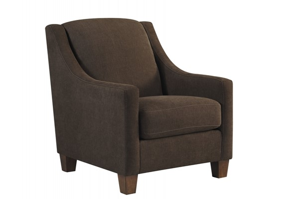 Maier Contemporary Walnut Fabric Accent Chair 4520121