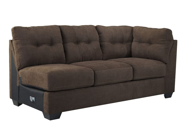 Maier Contemporary Walnut Fabric RAF Sofa 4520167