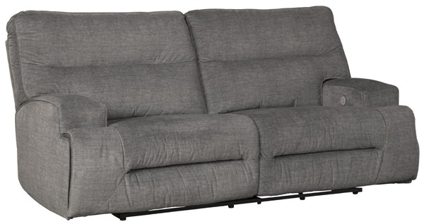 Ashley Furniture Coombs Charcoal 2 Seat Reclining Power Sofa 4530247