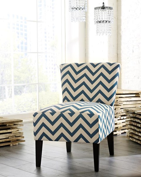 Ashley Furniture Ravity Blue Accent Chair The Classy Home
