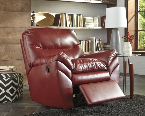 Tassler DuraBlend Contemporary Crimson Polyester PVC Rocker Recliner 4650025
