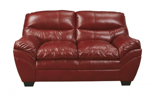 Tassler DuraBlend Contemporary Crimson Polyester PVC Loveseat 4650035