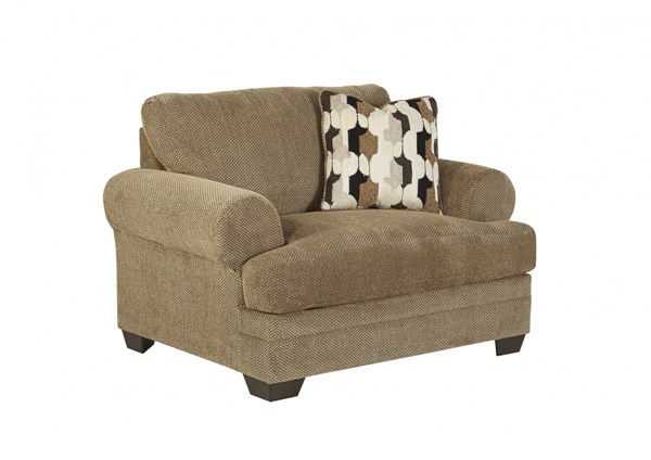 Kelemen Contemporary Amber Fabric Chair And A Half 4710023
