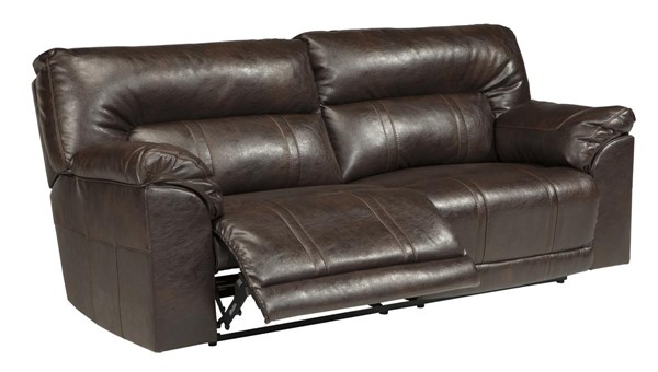 Barrettsville DuraBlend Contemporary Chocolate Fabric Leather Sofa 47301-SF-VAR