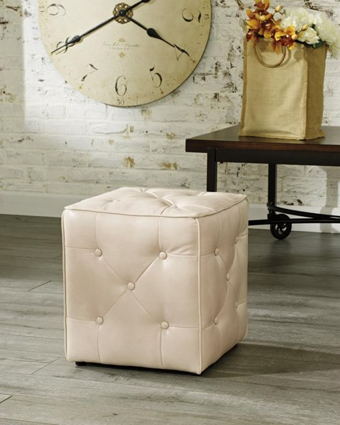 Jive Transitional Polyester Tufted Accent Ottoman 4740113