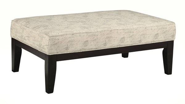 Baveria Transitional Fog Oversized Accent Ottoman 4760008