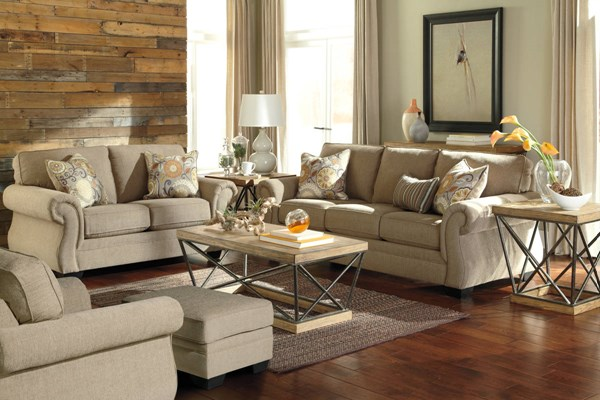 Tailya Transitional Barley Fabric 3pc Living Room Set 47700-LR-S1