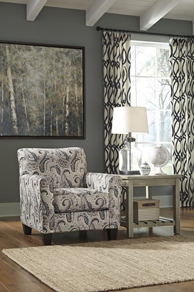 Melaya Transitional Pebble Fabric Accent Chair 4780021