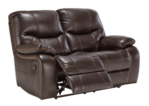 Pranas Contemporary Brindle Polyester Loveseat 47900-LS-VAR