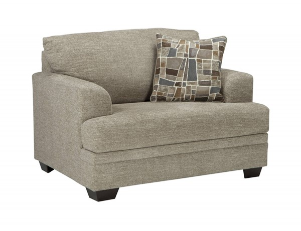 Barrish Transitional Sisal Fabric Chair And A Half 4850123