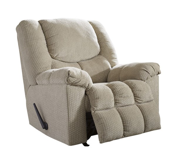 Turboprop Contemporary Putty Fabric Rocker Recliner 5000525
