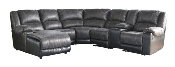 Ashley Furniture Nantahala Slate LAF Chaise and Console Sectionals 50302-SEC-VAR4