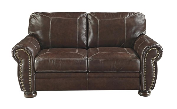 Banner Traditional Classics Coffee Leather PVC Loveseat 5040435