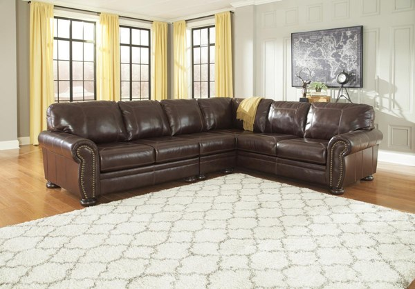 Banner Coffee Sectional W/RAF Sofa & LAF Loveseat & Armless Chair 50404-SEC6