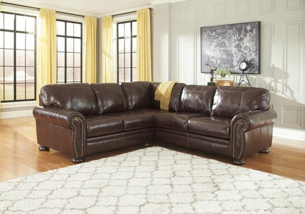 Banner Traditional Classics Coffee Sectional LAF / RAF Loveseat 50404-SEC17