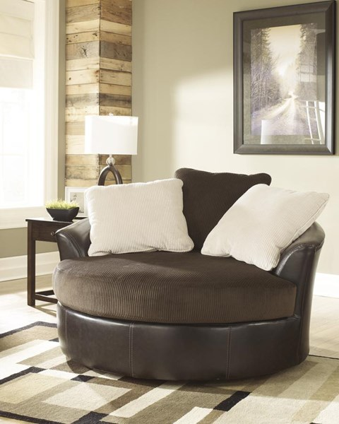 Victory Contemporary Chocolate PU Faux Leather Living Room