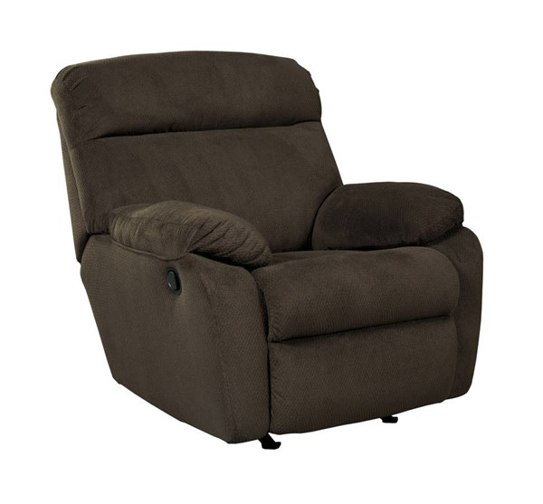 Demarion Contemporary Chocolate Fabric Rocker Recliner 5230325