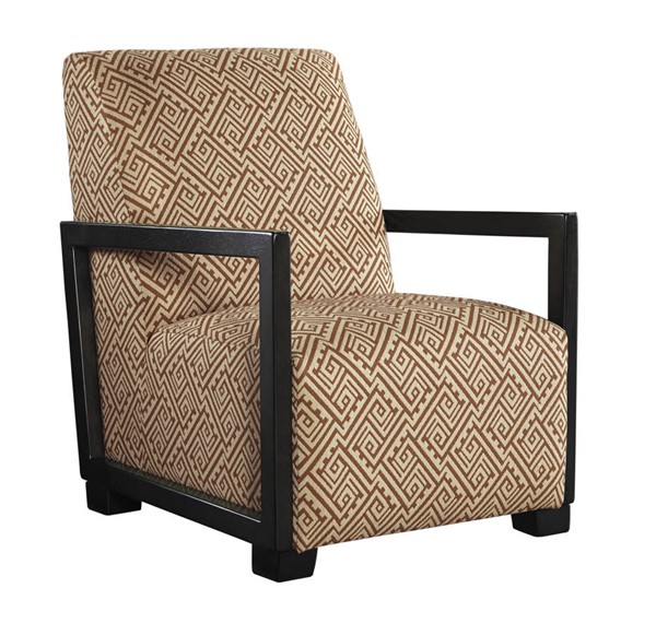 Leola Contemporary Curry Fabric Accent Chair 5360160