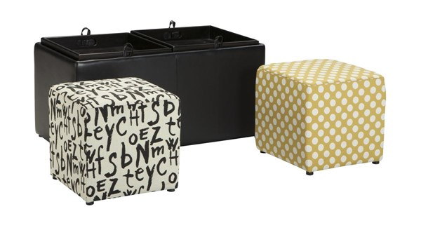 Brindon Contemporary Charcoal Ottoman With Storage 5390111