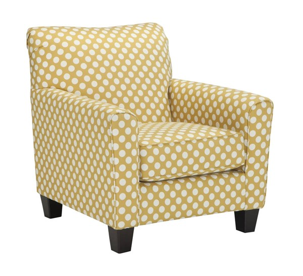 Brindon Contemporary Yellow Accent Chair 5390121