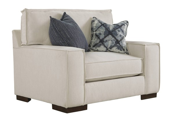 Kendleton Contemporary Quartz Fabric Solid Wood Chair And A Half 5470423