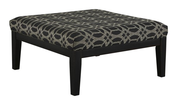 Cresson Contemporary Pewter Fabric Oversized Accent Ottoman 5490708
