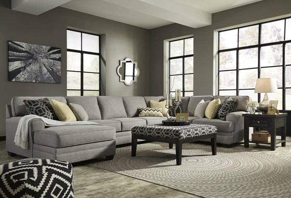 Ashley Furniture Cresson RAF Loveseat and Ottoman Sectionals 54907-SEC-VAR10