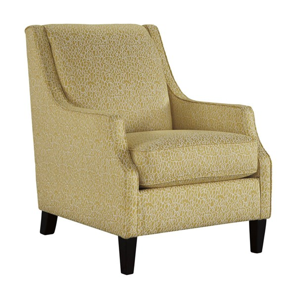 Cresson Contemporary Canary Fabric Solid Wood Accent Chair 5490721