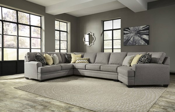 Ashley Furniture Cresson Pewter 4pc Sectional With Laf