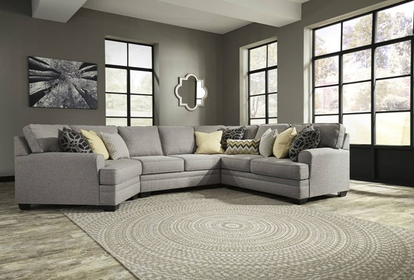 Ashley Furniture Cresson Pewter 4pc Sectional With Laf Cuddler The Classy Home