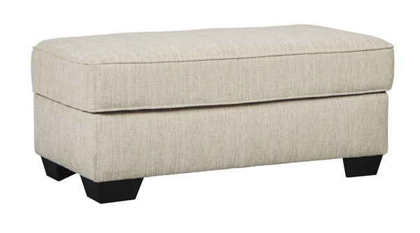 Silsbee Contemporary Sepia Fabric Solid Wood Ottoman 5540214