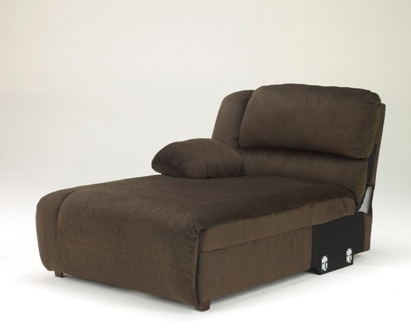 Toletta Chocolate Polyester LAF Press Back Power Chaise 5670179