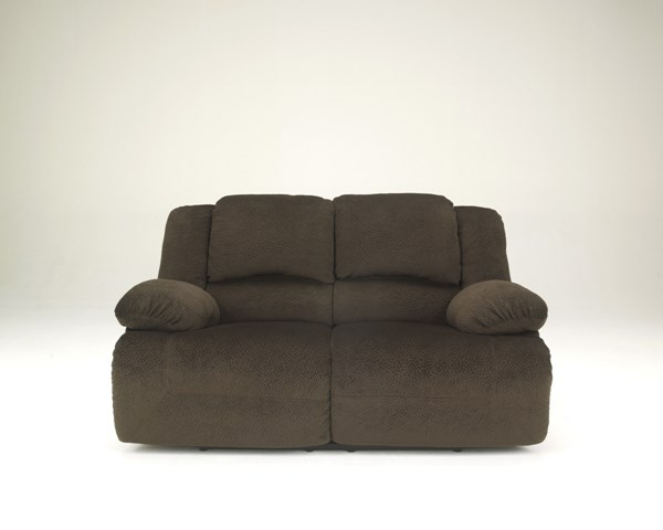 Toletta Chocolate Polyester Reclining Power Loveseat 5670174