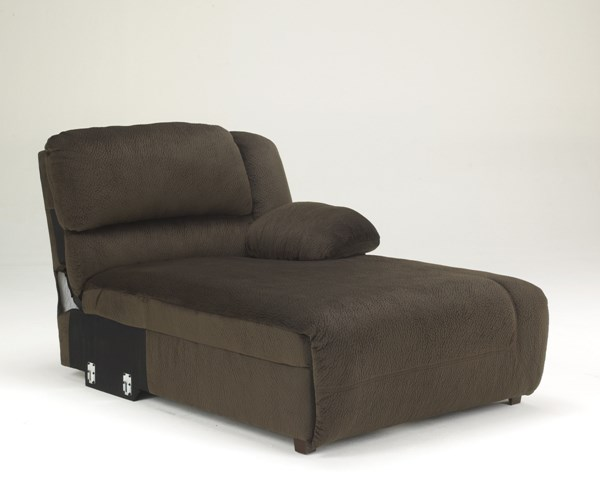 Toletta Chocolate Polyester RAF Press Back Power Chaise 5670197