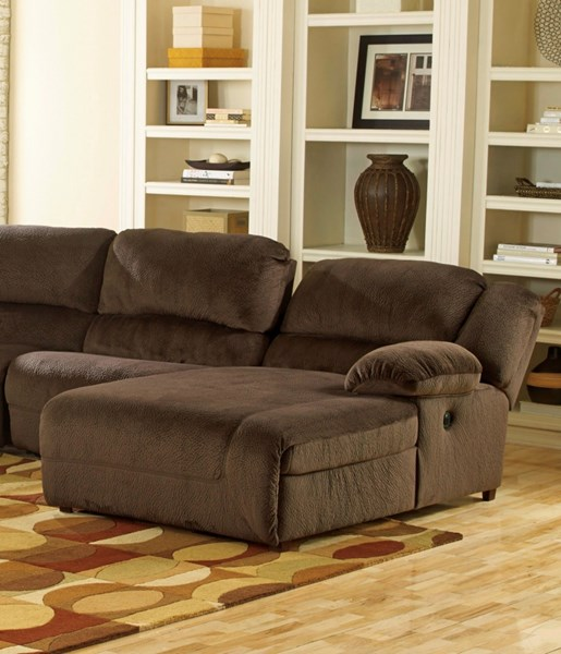 Toletta Chocolate Polyester RAF Press Back Chaise 5670107