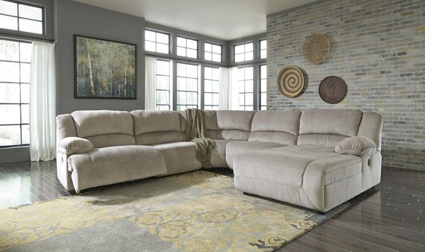 Toletta Contemporary Granite 5pc Sectional W/RAF Chaise 56703-LR-SEC5