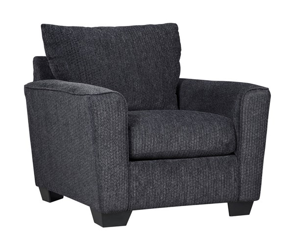 Wixon Contemporary Slate Fabric Solid Wood Chair 5700220