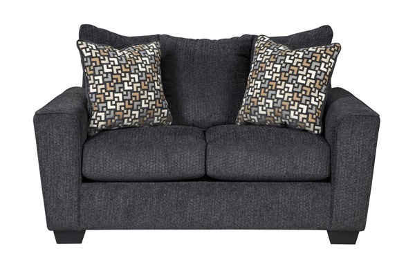 Wixon Contemporary Slate Fabric Solid Wood Loveseat 5700235