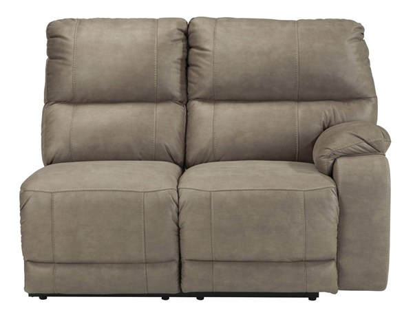 Bohannon Contemporary Taupe Fabric RAF Reclining Power Loveseat 5740375