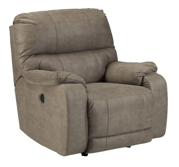 Bohannon Contemporary Taupe Fabric Power Rocker Recliner 5740398