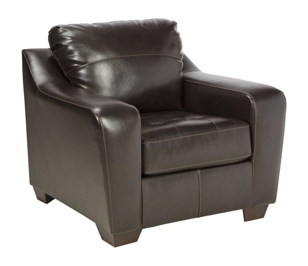 Coppell DuraBlend Contemporary Chocolate PVC Wood Chair 5900120