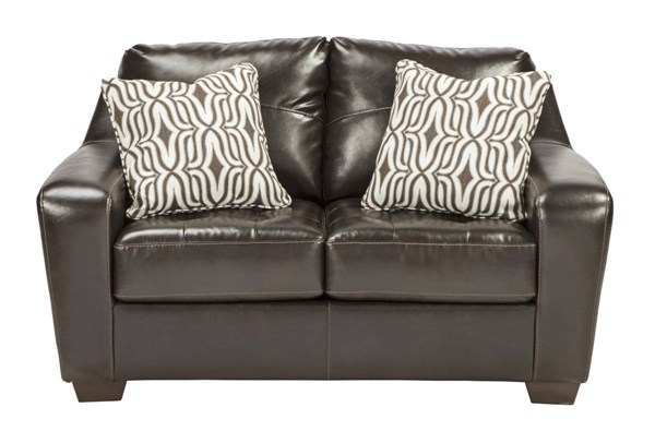 Coppell DuraBlend Contemporary Chocolate PVC Wood Loveseat 5900135