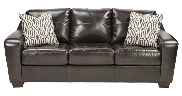 Coppell DuraBlend Contemporary Chocolate PVC Wood Sofa 5900138