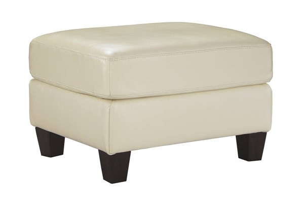 OKean Contemporary Galaxy Leather Solid Wood Ottoman 5910214