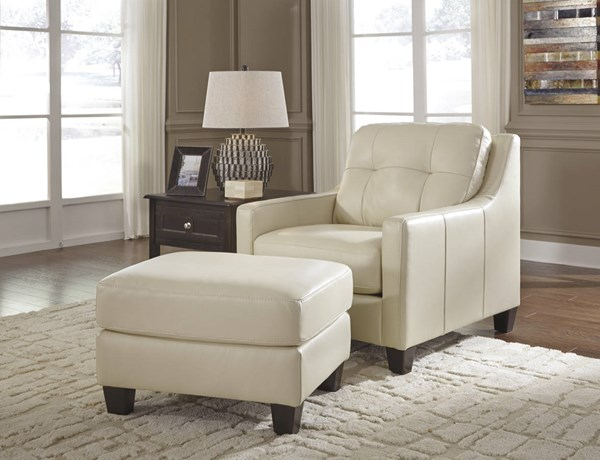 OKean Contemporary Galaxy Leather Solid Wood Chair & Ottoman Sets 59102-CHO-S-VAR