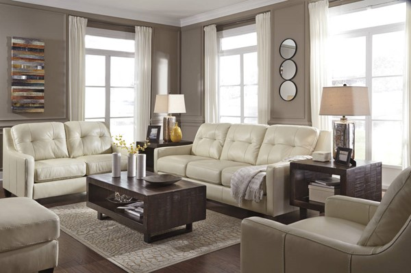 OKean Contemporary Galaxy Leather Solid Wood Living Room Set 5910-LR