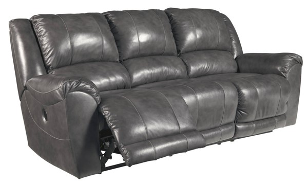 Ashley Furniture Persiphone Charcoal Reclining Power Sofa 6070187