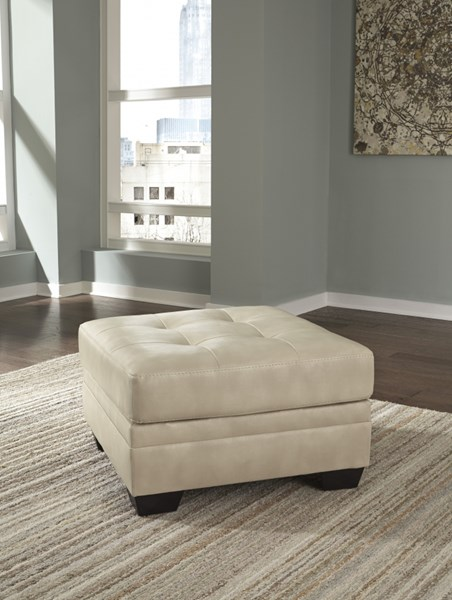 Khalil DuraBlend Contemporary Taupe Black Oversized Accent Ottomans 6180-OT-VAR