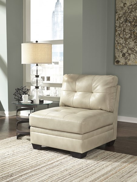 Khalil DuraBlend Contemporary Taupe Armless Chair 6180446