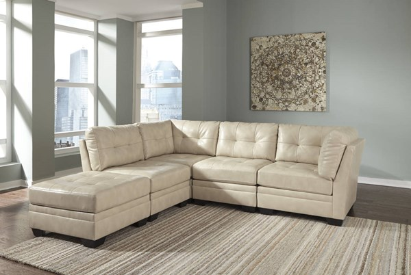 Khalil DuraBlend Contemporary Taupe Fabric Sectional W/Ottoman 61804-SEC2
